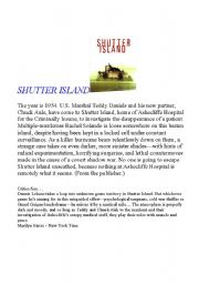 English Worksheets: Shutter Island Activity (Film)