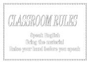 English worksheet: Classroom rules to colour and print