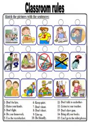 Worksheets Classroom Rules Worksheet classroom rules worksheet by rachid achgare rules