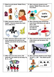 English worksheet: Mission Game For Teens