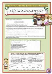 English Worksheet: Life in ancient Rome