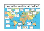 English Worksheets: Weather Information Gap