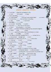 English Worksheet: INFINITIVE - SUBJUNCTIVE - PARTICPLE
