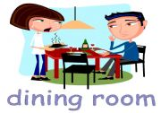 English Worksheet: Rooms of the house flashcards