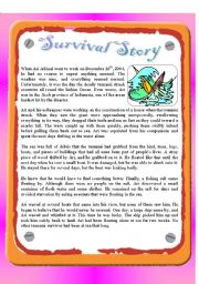 Reading - Tsunami Survival Story