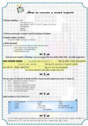 English Worksheets: News Report