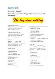 English Worksheet: THE BOY DOES NOTHING