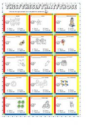 English Worksheets: this/these/that/those