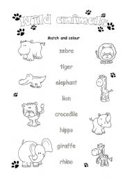 wild animals esl worksheet by fio ek. Black Bedroom Furniture Sets. Home Design Ideas