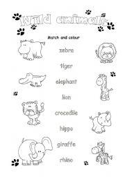animal worksheet new 345 wild animal worksheet esl. Black Bedroom Furniture Sets. Home Design Ideas