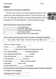 English Worksheets: 4rd grade