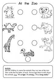 Zoo Animals - worksheet by 3MMM