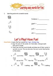 English Worksheets: Let�s play! Have Fun!