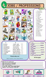 English Worksheets: JOBS / PROFESSIONS