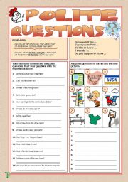 English Worksheets: Polite Questions