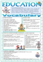 English Worksheets: Education