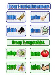 English Worksheets: Grouping (for at most 6 groups) - 3 pages, fully editable
