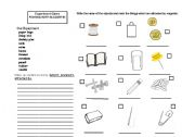 English Worksheet: Experiments_Magnets(CLIL LESSON)