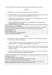 English Worksheets: DIFFERENCES BETWEEN JOYCE AND VIRGINIA WOLF
