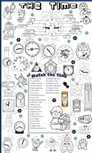 English Worksheets: THE TIME