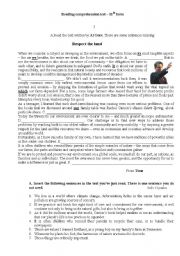 English Worksheets: Respect the land- Al Gore