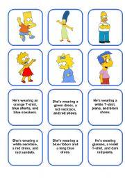 English worksheet: Clothes - memory game