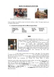 English Worksheets: How to behave in pubs
