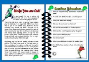 English Worksheets: Strike! You are Out!! - Reading Comprehension - Editable