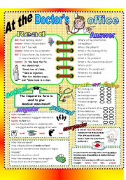 English Worksheets: At the doctor�s office