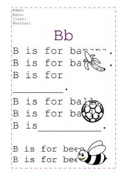 English Worksheet: ABC handwriting