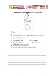 English Worksheets: DESCRIPTION II