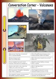 English Worksheet: Conversation Corner - Volcanoes