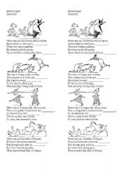 English Worksheet: Edward Lear limerick gap fill