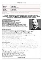 English Worksheets: Sir Arthur