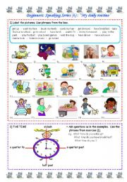 English Worksheets: Speaking series (6) - My daily routine