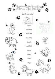 Farm animals - ESL worksheet by Fiołek