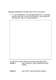 English Worksheet: Picture dictation