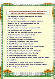 24 rules for subject verb agreement As a helping verb: the rules of subject-verb agreement also apply when the verb to be is used as a helping verb, as in were running or was baking.