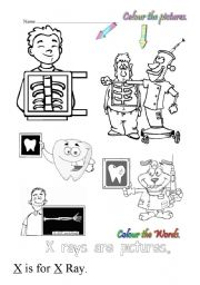 English Worksheets: X is for x-ray