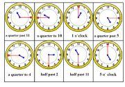 English Worksheet: Telling Time Bingo Game. Card nr. 4/6