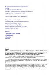 English Worksheets: tattoo