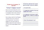 English Worksheets: European Day of Languages