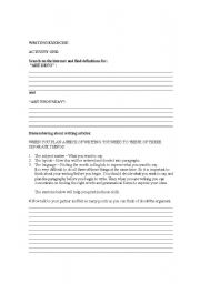 English Worksheets: HELPING STUDENTS WITH WRITING