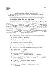 Worksheets English 9 Worksheets english teaching worksheets 1st grade 2010 2011 educational year term examination for anatolian high schools