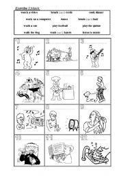 English Worksheets: Everyday activities/daily routines (1)