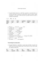 English Worksheets: graver type exercises