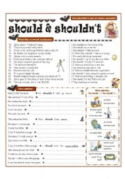 MODAL VERBS - should, shouldn´t