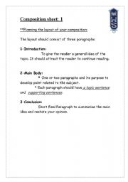 English Worksheets: tips for good composition
