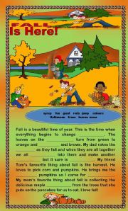 English Worksheets: Comprehension - Fall is Here