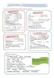 English Worksheet: Four Tenses - Revision